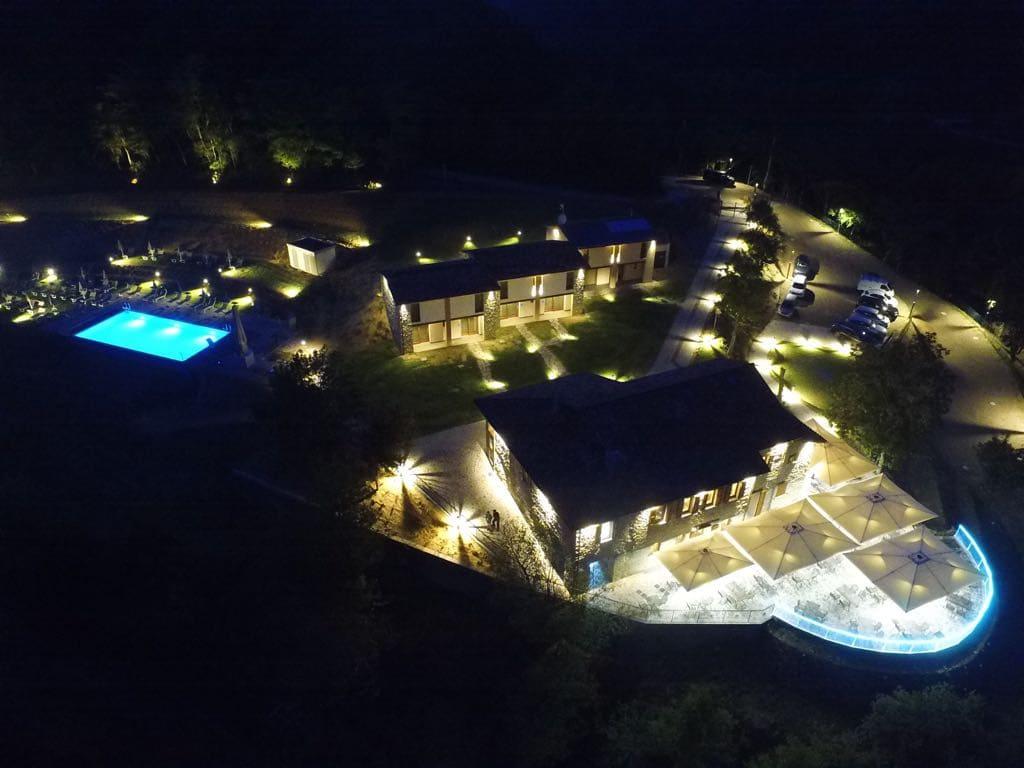 Borgo Rossi di Brisighella visto dall'alto con un drone