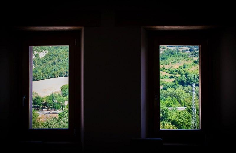 Gli interni del ristorante agriturismo Borgo Rossi a Brisighella